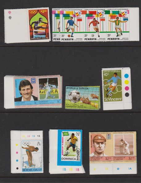 :SPORTS Collection 27 MINT Sets Various Countries SCV to $13
