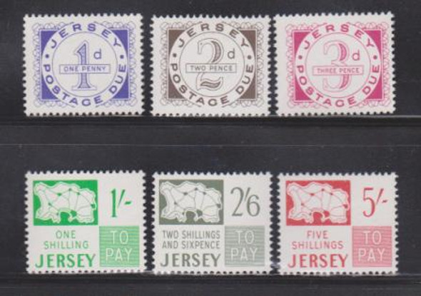 JERSEY (1969)- POSTAGE DUE STAMPS