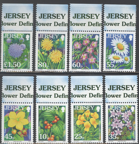 JERSEY (2007) - Wildflower Definitives III  (8 values)