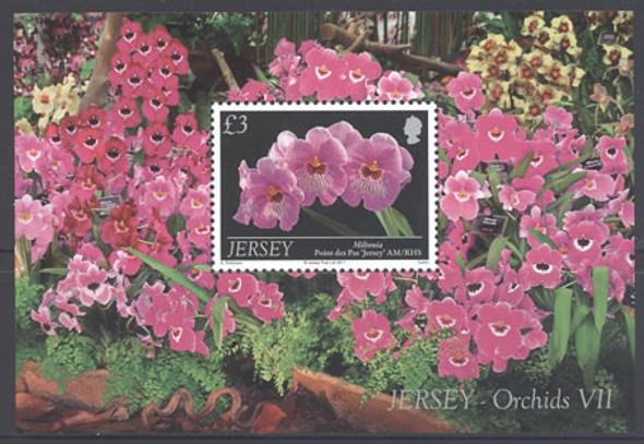 JERSEY- Orchids- souvenir sheet