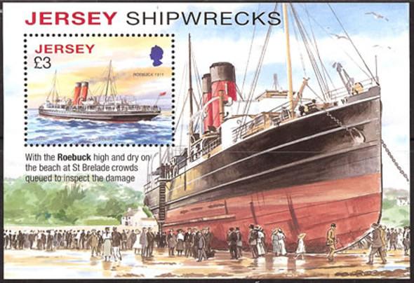 JERSEY- Shipwrecks- souvenir sheet