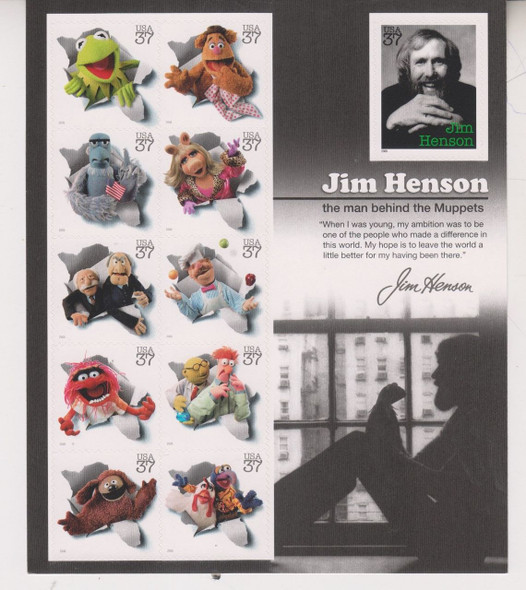 US (2004) Jim Henson and the Muppets Sheet #3944 Sheet of 11v