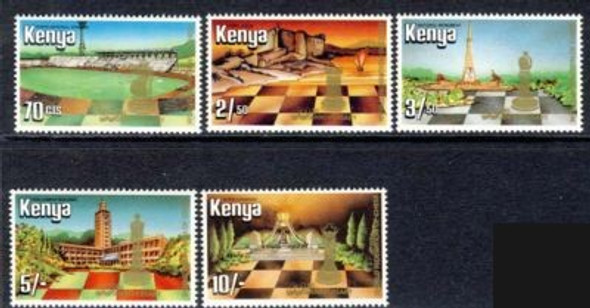 KENYA (1984) 60th Anniv World Chess Federation