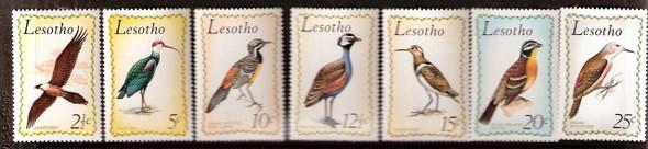 LESOTHO (1971)- Birds (7 values)
