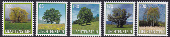LIECHTENSTEIN (2017)- Tree Definitives- self-adhesive (5)