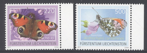 LIECHTENSTEIN- Butterflies III 2011- 220- 500 values (2)