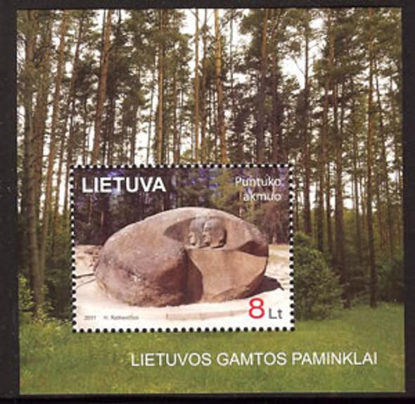 LITHUANIA- Puntukas Stone- souvenir sheet