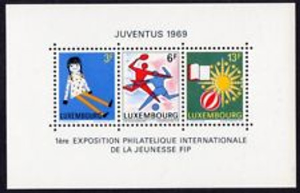 LUXEMBOURG (1969) Youth Philatelists  SS