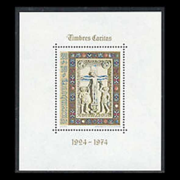 LUXEMBOURG (1974) Crucifixion 50th Anniversary Caritas Issues SS