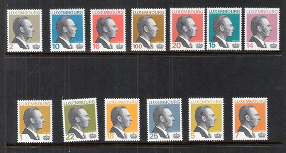 LUXEMBOURG (1993)- Grand Duke Definitives (13 values)