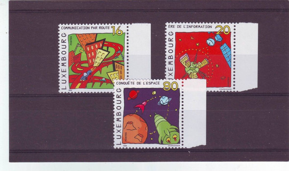 LUXEMBOURG (1999) Space Communications- Children's Art (3V)