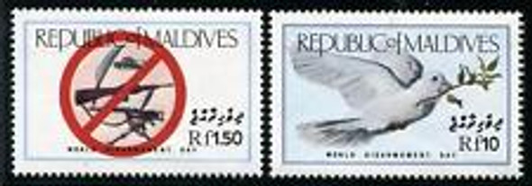 MALDIVES (1986) DOVES GUNS Scarce Set