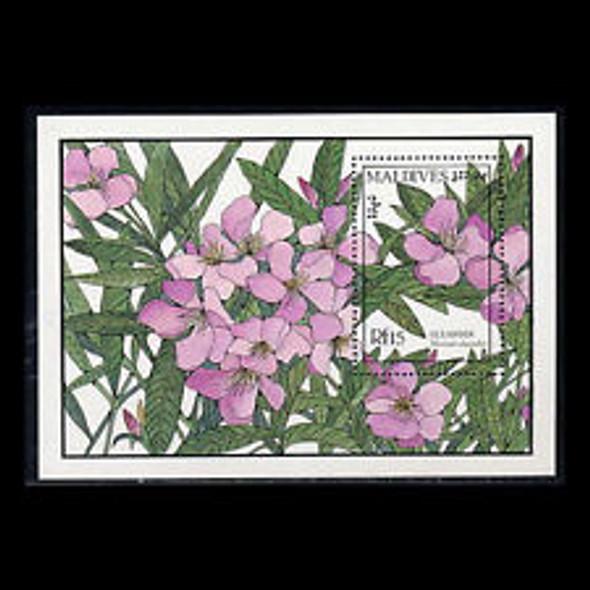 MALDIVES (1987) Flower, Flora SS