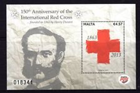 MALTA (2013) RED CROSS 150th Anniversary SS Sheet
