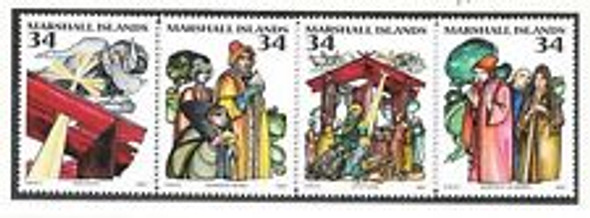MARSHALL ISLANDS (2001) Christmas nativity (4v)