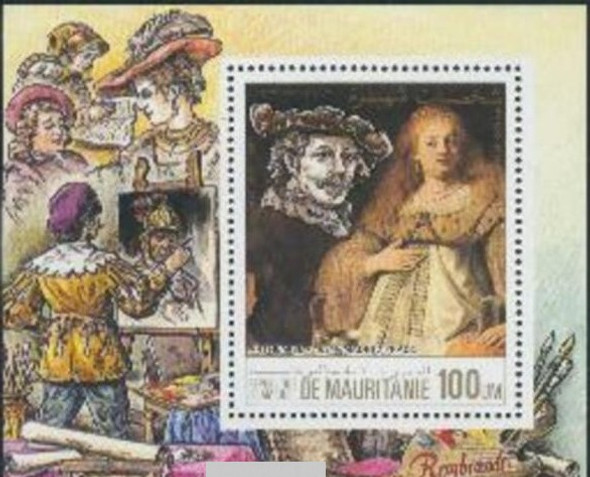 MAURITANIA (1984)- Rembrandt Art Souvenir Sheet