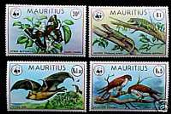 MAURITIUS (1981) WWF ENDANGERED ANIMALS- SET OF 4