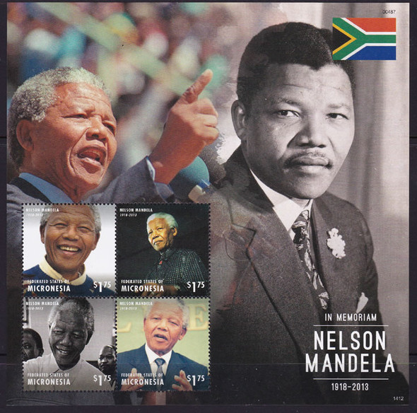 MICRONESIA: Nelson Mandela 2014- Sheet of 4- 1412