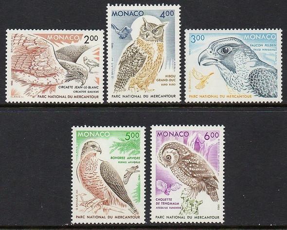MONACO (1991)- Birds of Mercantour National Park (4v)