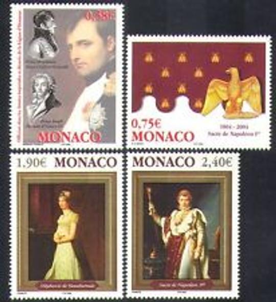 MONACO (2004) Napolean ,Art (4v)