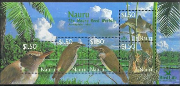 NAURU (2002) Birds Sheet  of 5 values