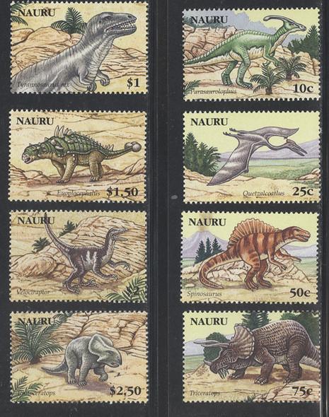 NAURU (2006)- Dinosaurs (8 values)