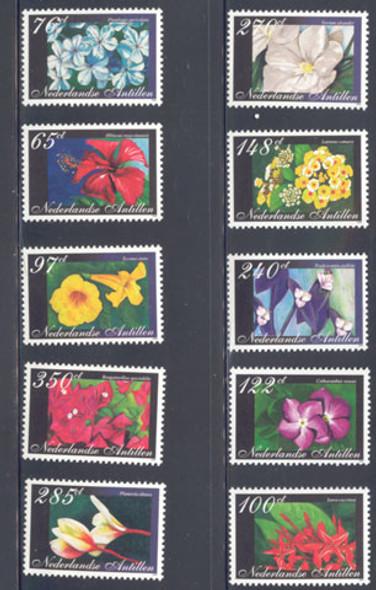 NETHERLAND ANTILLES (2005)- Flowers (10  values)