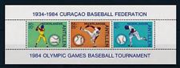 NETHERLANDS ANTILLES (1984) BASEBALL Sheet