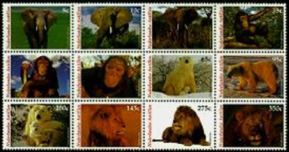 NETHERLANDS ANTILLES (2005)Fauna 2004 - Elephants, Lions, Bears, Monkeys
