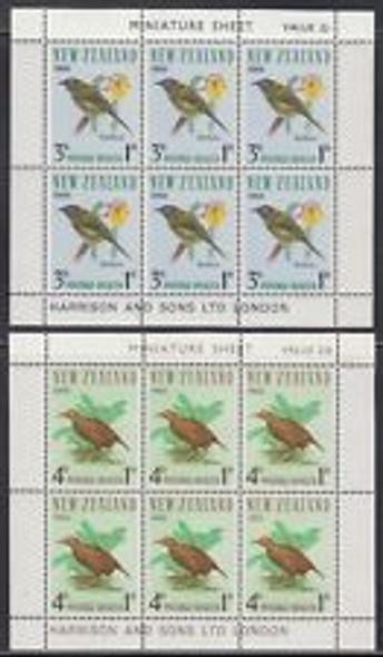 NEW ZEALAND (1966) Bird Mini Sheets (2)