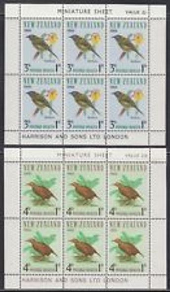 NEW ZEALAND (1966) Bird Mini Sheets (2)