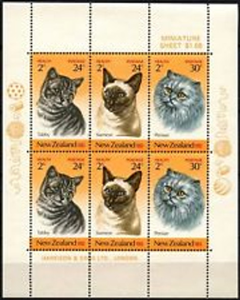 NEW ZEALAND (1983) CAT MINI SHEET