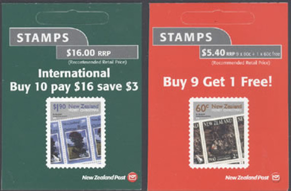 NEW ZEALAND- Christmas 2010 Booklets- self-adhesive (2)