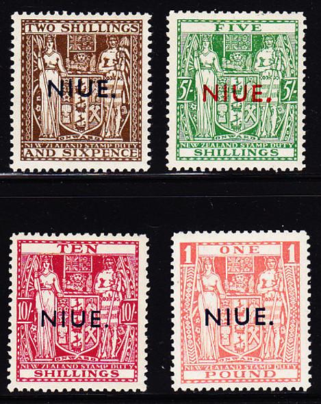 NIUE #89A-D MINT HINGED, CV$75.25