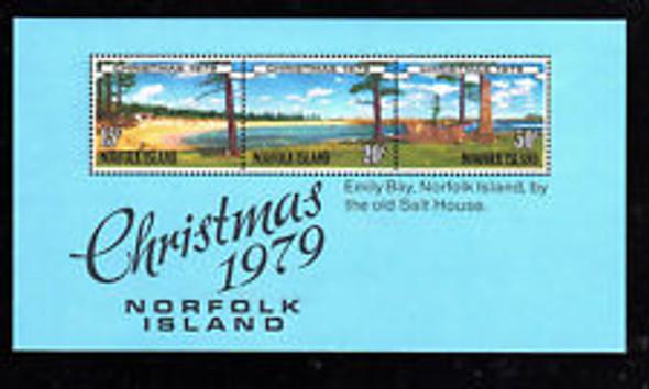 NORFOLK ISLAND (1979) Christmas,Scenic SS
