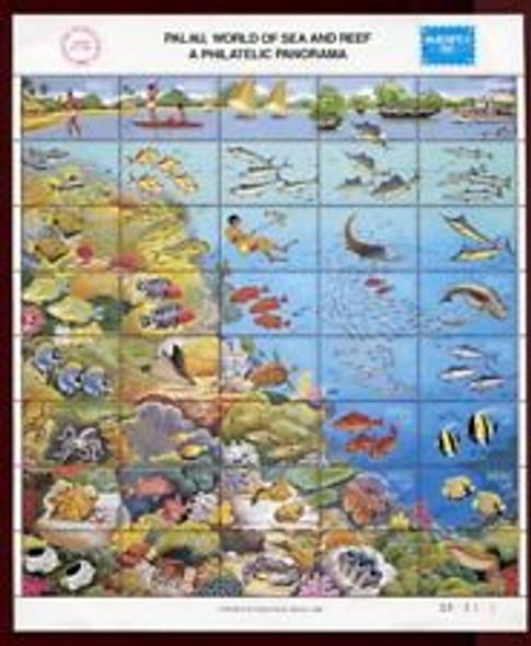 PALAU (1986)- AMERIPEX Expo Sheet of 40v- Pacific Sealife