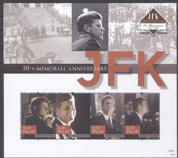 PALAU (2013) - JFK 50th Memorial Anniversaryl- Sheet of 4