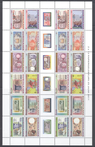Paper money Fair- mini-sheet of 2 sets
