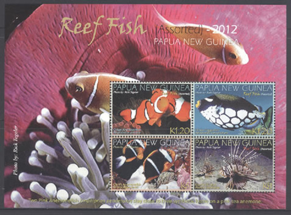 PAPUA (2012) - Reef Fish- Sheet of 4