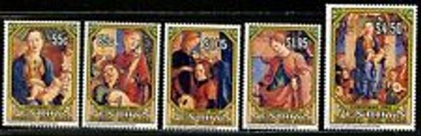 PENRHYN ( 1993) Christmas, Religious Paintings (5v)