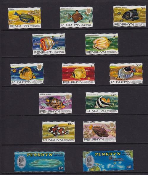 PENRHYN (1974)- Tropical Fish (14 values)