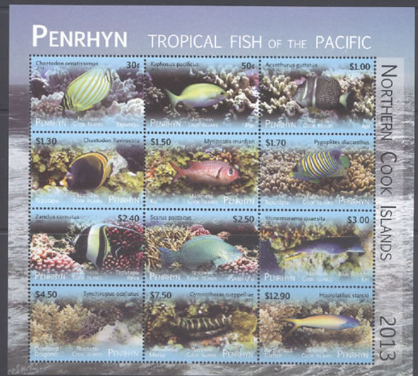 PENRHYN (2013) - Fish Definitives II- Sheet of 12