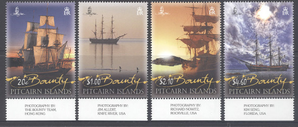 PITCAIRN IS (2013).- Photographs of Bounty Sailship Replicas (4)