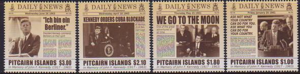 PITCAIRN IS (2014) - JFK on newspaper covers (4)