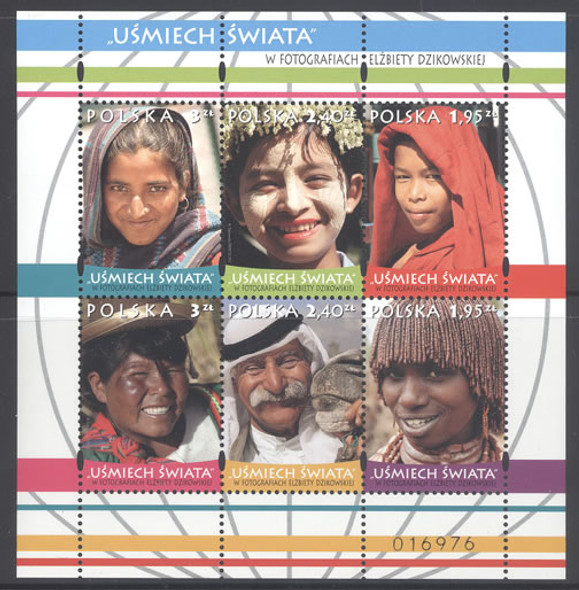 POLAND: People with Smiles- Sheet of 6