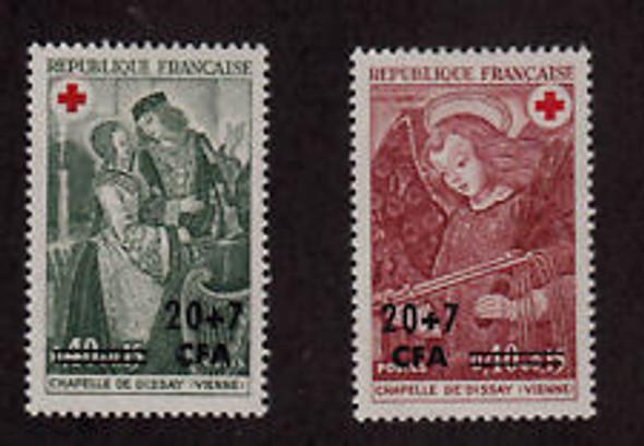 REUNION ( 1970) ART,REDCROSS (2v)