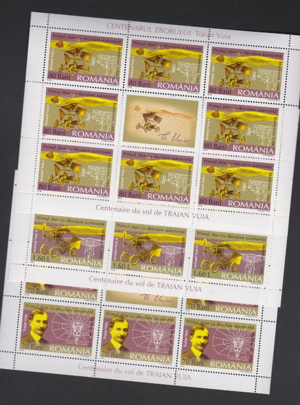ROMANIA (2006) Centenary Of Aircraft Full Sheets