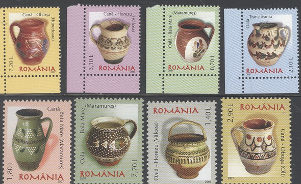 ROMANIA (2007)- Pottery Definitives (8v)