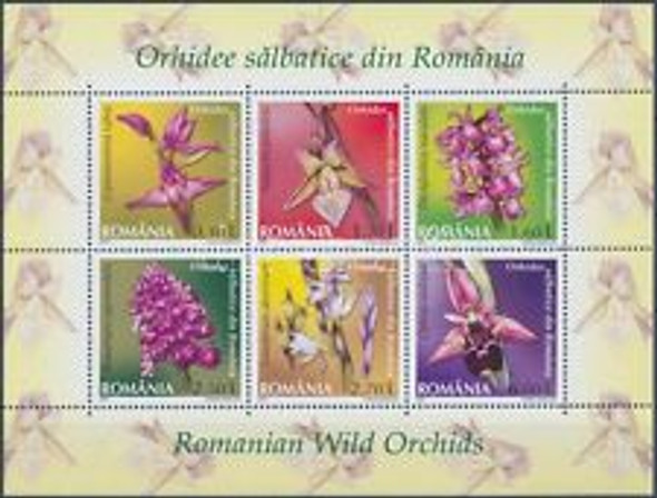 ROMANIA (2013) ORCHIDS Sheet