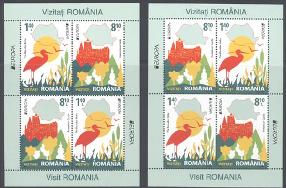ROMANIA- Europa 2012 Tourism- Sheets of 4 (2)